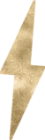 Power House Gold Foil Lightning Bolt